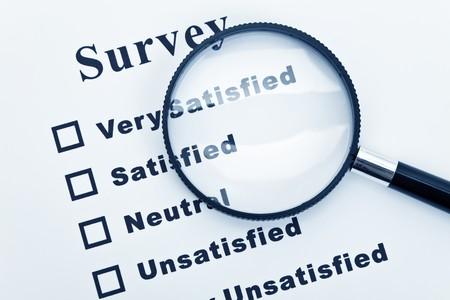 Survey and questionnaire, business concept Stock Photo