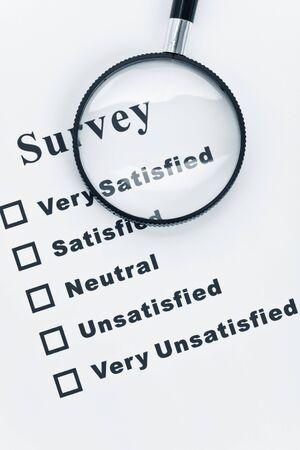 Onderzoek en de vragen lijst, businessconcept  Stockfoto - 7309513
