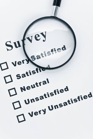 Survey and questionnaire, business concept Stok Fotoğraf