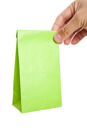 Green Paper Bag close up