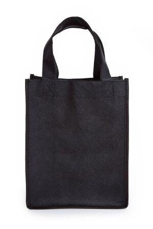 reusable: Black reusable shopping bag with white background