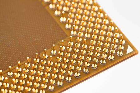 Computer CPU close up shot Stock Photo