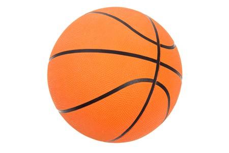Orange Basketball with white background Stok Fotoğraf - 7333178