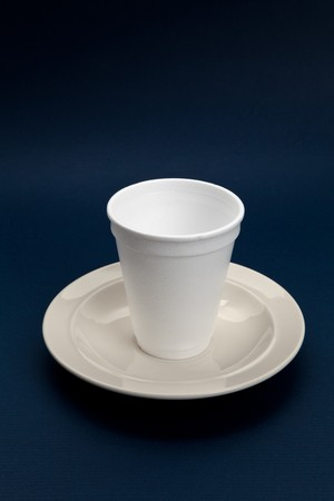 Disposable Cup, concept of wrong position Imagens