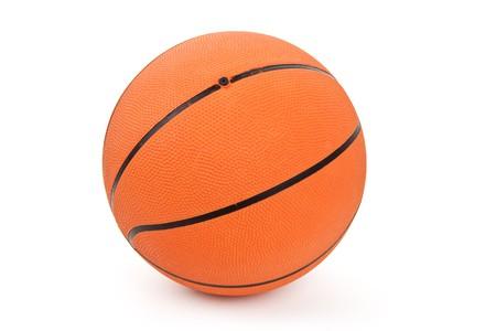 Orange Basketball with white background photo