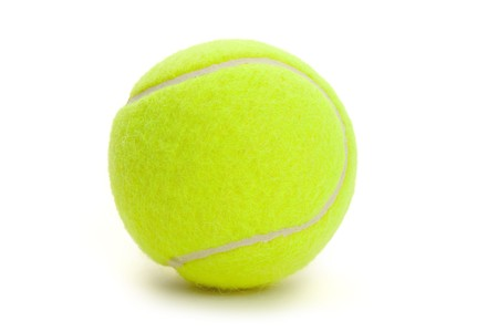 yellow ball: Tennis Ball with white background