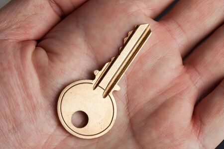 Golden House Key close up