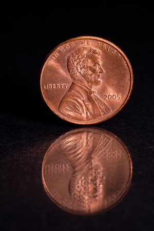 US Penny with Black Background Stock Photo - 7544415