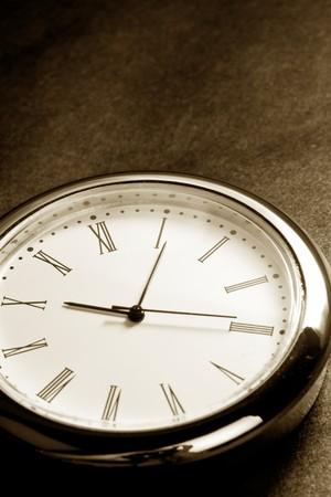 Clock close up with dark background
