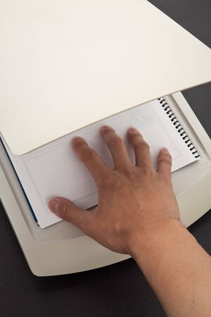 Scanner close up shot, business concept Stock Photo - 7579460