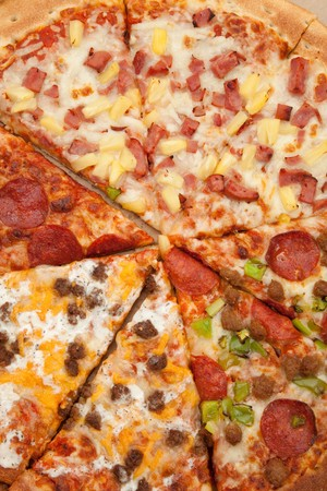 Pizza close up for background photo