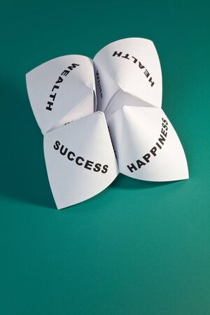 Paper Fortune Teller,concept of balance Stock Photo - 7579470