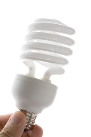 Compact Fluorescent Lightbulb clsoe up Stock Photo - 7579367