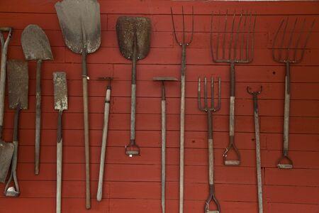 pitchfork: Old Farm tools close up