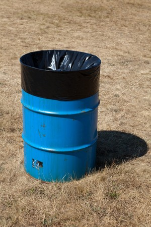 Garbage Can close up shot