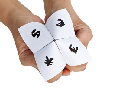 Paper Fortune Teller,concept of business decision Stock Photo - 7609993