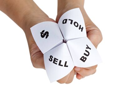 Paper Fortune Teller,concept of business decision Stock Photo - 7609990