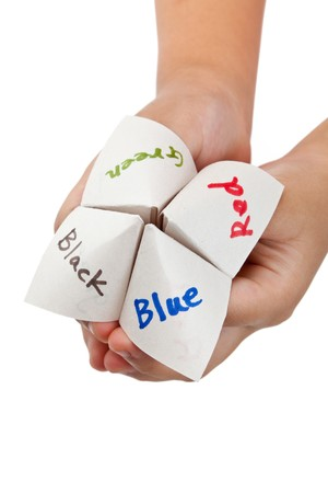Paper Fortune Teller close up Stock Photo - 7610015