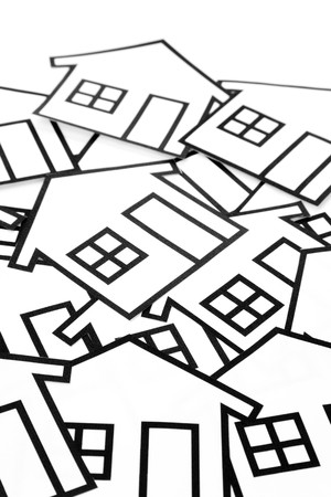 housing problems: home sign for background use, Real Estate Concept