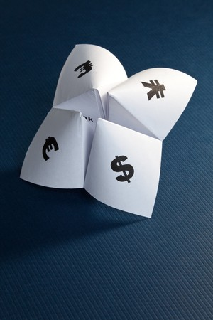 Paper Fortune Teller,concept of business decision Stock Photo - 7712059