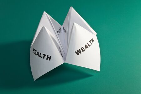 Paper Fortune Teller,concept of balance Stock Photo - 7712054