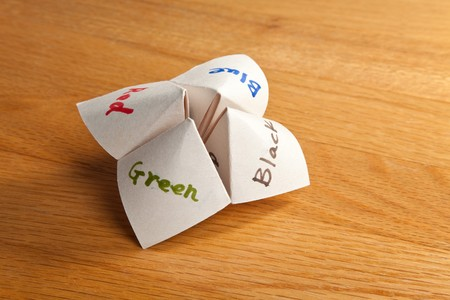 cootie catcher: Paper Fortune Teller close up