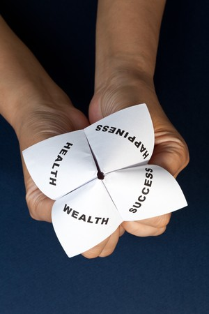 Paper Fortune Teller,concept of life balance Stock Photo - 7712026