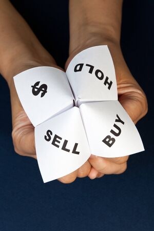 Paper Fortune Teller,concept of business decision Stock Photo - 7712024