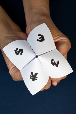 Paper Fortune Teller,concept of business decision Stock Photo - 7712034