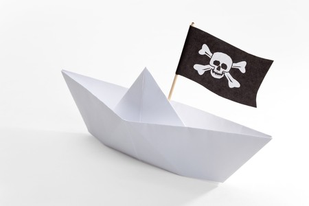Pirate Ship with white background photo