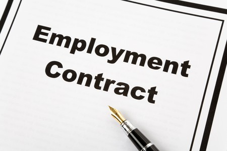 Employment Contract and pen, business concept photo