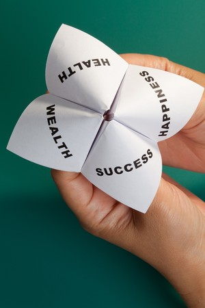 Paper Fortune Teller,concept of balance photo