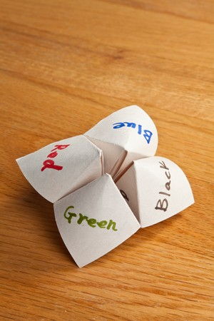 Paper Fortune Teller close up