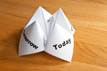 fortune teller: Paper Fortune Teller