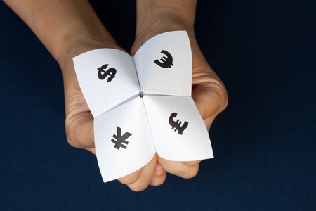 Paper Fortune Teller,concept of business decision Stock Photo - 7745150
