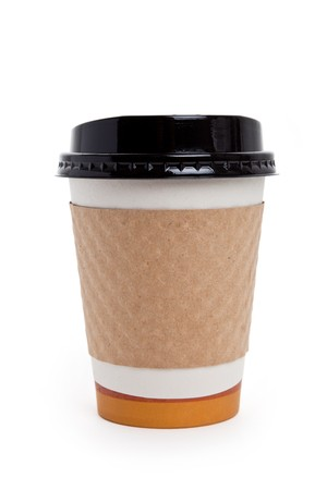 Disposable Coffee Cup with white background Stock Photo - 7745096