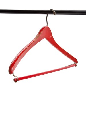Red Wood Hanger with white background