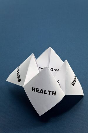 Paper Fortune Teller,concept of balance Stock Photo - 7781461