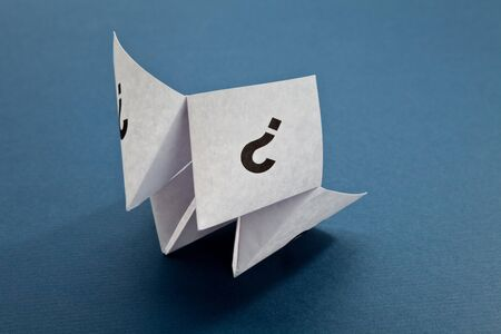 Paper Fortune Teller,concept of uncertainty photo