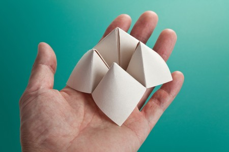 Paper Fortune Teller close up Stock Photo - 7805666