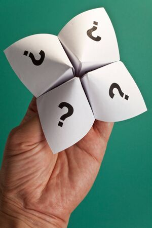 Paper Fortune Teller,concept of uncertainty Stock Photo - 7805670