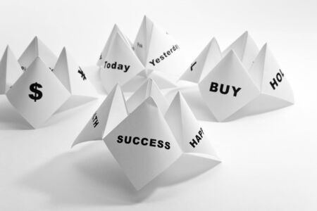 Paper Fortune Teller,concept of business decision Stock Photo - 7805630