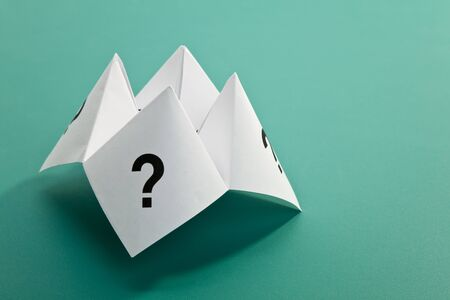Paper Fortune Teller,concept of uncertainty