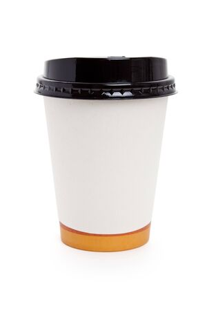 Disposable Coffee Cup with white background Stock fotó