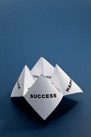 Paper Fortune Teller,concept of balance Stock Photo - 7817112