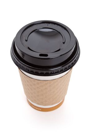 Disposable Coffee Cup with white background Stock Photo - 7817074