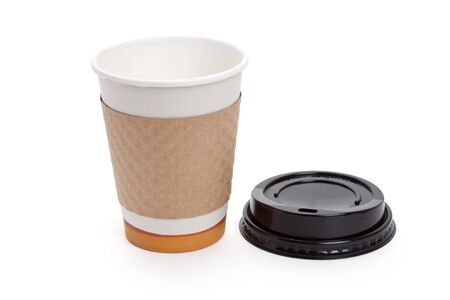 Disposable Coffee Cup with white background Stock Photo - 7817061