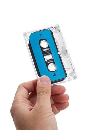 Blue Audio Cassette close up Stock Photo - 7817086