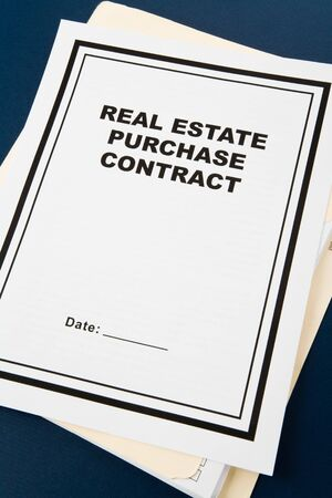 purchase: Real Estate Purchase Contract, business concept Stock Photo
