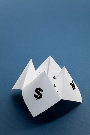 Paper Fortune Teller,concept of business decision Stock Photo - 7870662